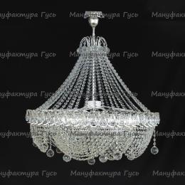 Люстра  хрустальная Кольцо Роза с подвесом 8 ламп
