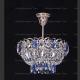 Люстра хрустальная Катерина 1 лампа подвес синяя