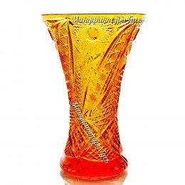 Хрустальная ваза для цветов «Прага»цв.янтарный