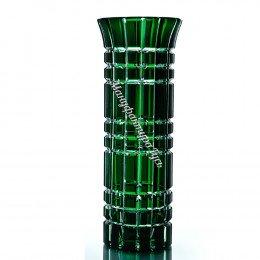 Хрустальная ваза для цветов «Бисер» большая,цв.зеленый.