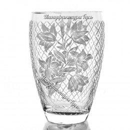 Хрустальная ваза для цветов «Калатея» с гравировкой