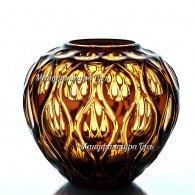 Хрустальная ваза для цветов «Богема» средняя