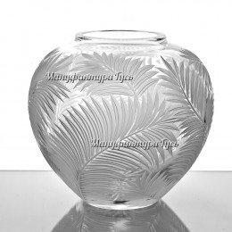 Хрустальная ваза для цветов «Богема» сред.,произвольный рисунок