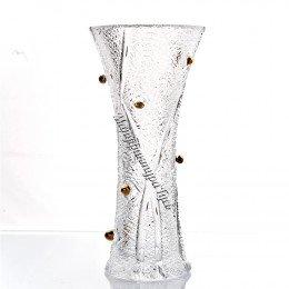 Хрустальная ваза для цветов Морозко