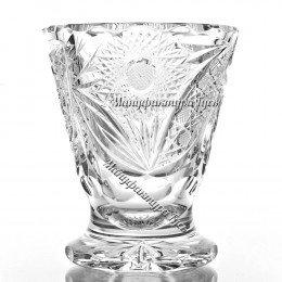 Хрустальная  ваза для цветов «Одуванчик» произ. рисунок