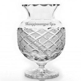 Хрустальная  ваза для цветов «Клюква»