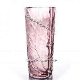 Хрустальная  ваза для цветов «Лесная» цв.эрбий