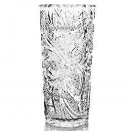 Хрустальная  ваза для цветов «Льдинка» цв.зеленый