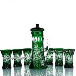 Хрустальный набор «Стройный» (кувшин с крышкой, 6 стаканов)