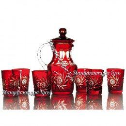 Хрустальный набор «Подарочный» (кувшин c крышкой, 6 стаканов)