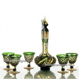 Хрустальный набор «Фатима» (графин с пробкой, 6 рюмок)