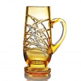 Хрустальная кружка для пива «Банзай» цв.янтарный