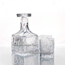 Хрустальный набор «Текила» (штоф с пробкой, 2 стакана)