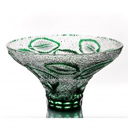 Хрустальная ваза для фруктов «Пальмира»