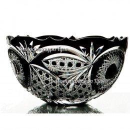 Хрустальная ваза для фруктов  «Серенада»,  произвольный рисунок