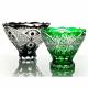 Хрустальная ваза для фруктов «Победа» цв зеленый