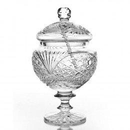 Хрустальная ваза для конфет «Любава» на ножке