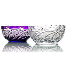 Хрустальный салатник «Натюрморт» цв.фиолетовый