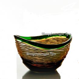 Хрустальная ваза для конфет «Серенада» цв.зеленый