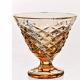 Хрустальная ваза для крема цв.янтарный