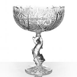 Хрустальная ваза для фруктов «Дракон»