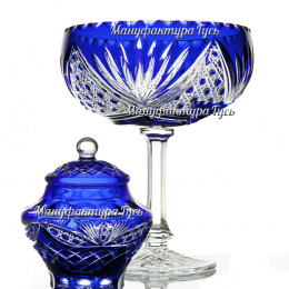 Хрустальная ваза для фруктов «Мазурка»