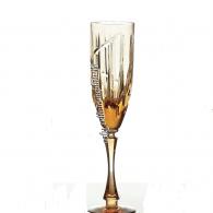 """Хрустальный набор бокалов для шампанского """"Пламя"""" рис. """"Вертикаль"""""""