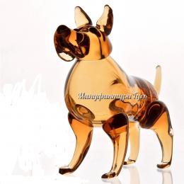 Хрустальная собачка Мухтар янтарный
