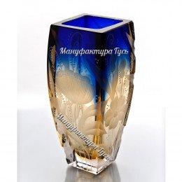 Хрустальная  ваза для цветов «Марта», с гравировкой