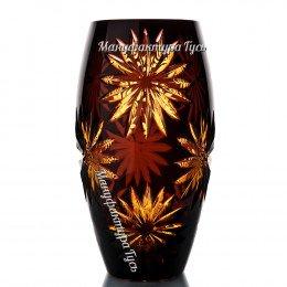 Хрустальная  ваза для цветов «Астра» мал. цветная