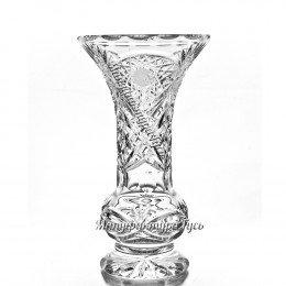 """Хрустальная ваза для цветов """"Тюльпан"""" большая"""