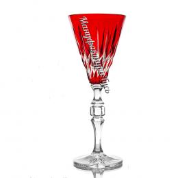 Хрустальный набор фужеров «Северное сияние» цв.красный