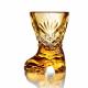 Хрустальный набор  «Сапожок» 2шт цв.янтарный