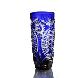 """Хрустальный набор стаканов рис. """"Произвольный"""",  6 шт. цв.янтарно-синий"""