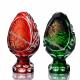 Хрустальное декоративное изделие «Яйцо» среднее с живописью,цв. красный