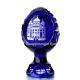 Хрустальное декоративное изделие «Яйцо» среднее с живописью,цв. синий