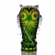 Хрустальное декоративное изделие «Филин» цв.янтарно -зеленый