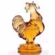 Хрустальное декоративное изделие «Петушок» цв.янтарный