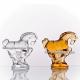 Хрустальное декоративное изделие «Лошадка» цв.янтарный