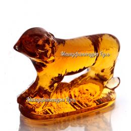 Хрустальное декоративное изделие «Тигр» цв.янтарный