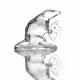 Хрустальное декоративное изделие «Крыса»