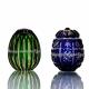 Хрустальное декоративное изделие «Яйцо-ромашка» цв.янтарно - синий