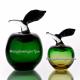 Хрустальное декоративное изделие «Яблоко» зеленое