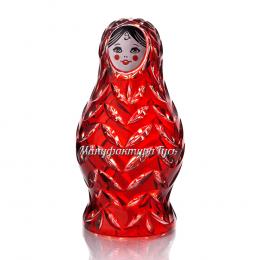 Хрустальное декоративное изделие «Матрешка» цв.красный