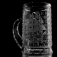 Хрустальная кружка для пива «Престиж» с гравировкой