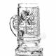 """Хрустальная кружка для пива «Престиж» с гравировкой рис.""""Герб Россия"""""""
