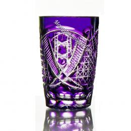"""Хрустальный набор стаканов """"Купец"""" 6шт цв.фиолетовый"""