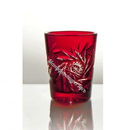 Хрустальный набор стаканов «Подарочный» 6шт цв.красный