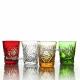 Хрустальный набор стаканов «Подарочный» 6шт цв.янтарный