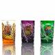 Хрустальный стакан с живописью цв.фиолетовый
